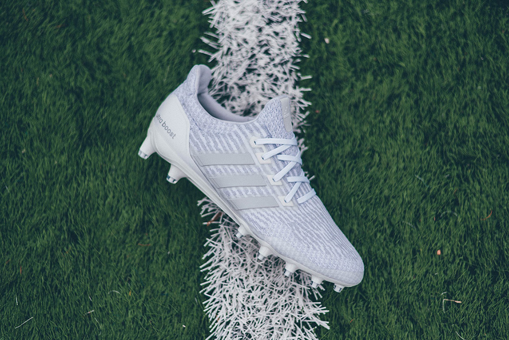 Adidas Ultra Boost football cleat Triple White