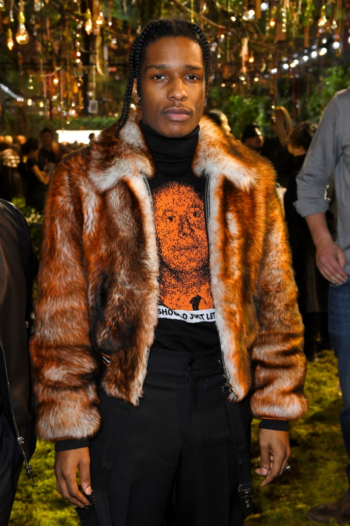 A$AP Rocky at the Dior Haute Couture show.