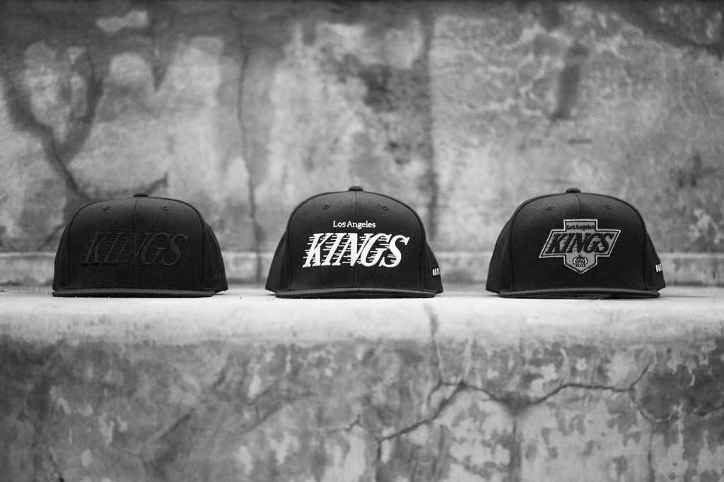 The Bait Los Angeles Kings Mitchell & Ness snapback hats