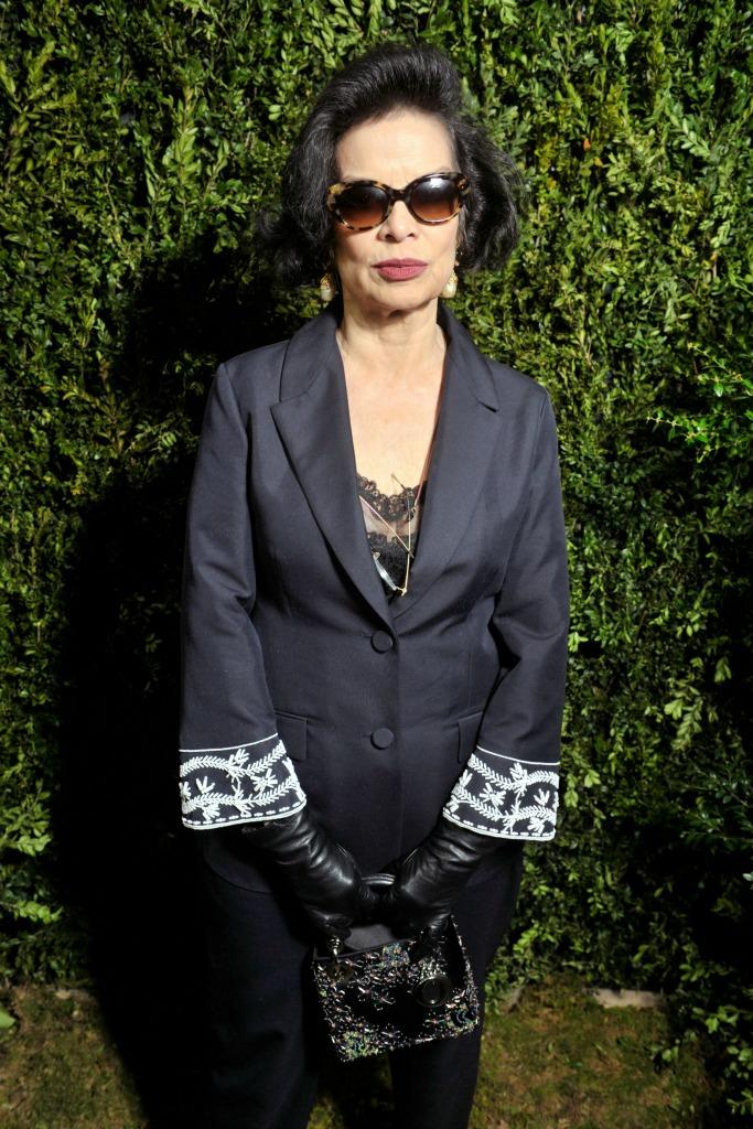 Bianca Jagger front row at Dior.