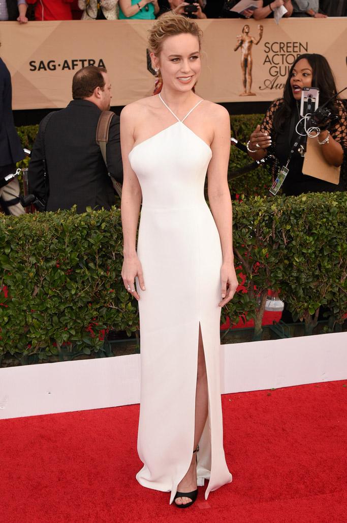 Brie Larson SAG Awards Red Carpet Shoes