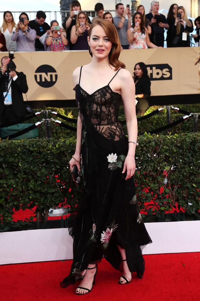 Emma Stone SAG Awards Red Carpet Shoes