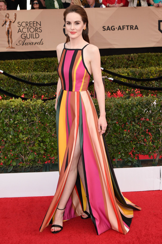 Michelle Dockery SAG Awards Red Carpet Shoes