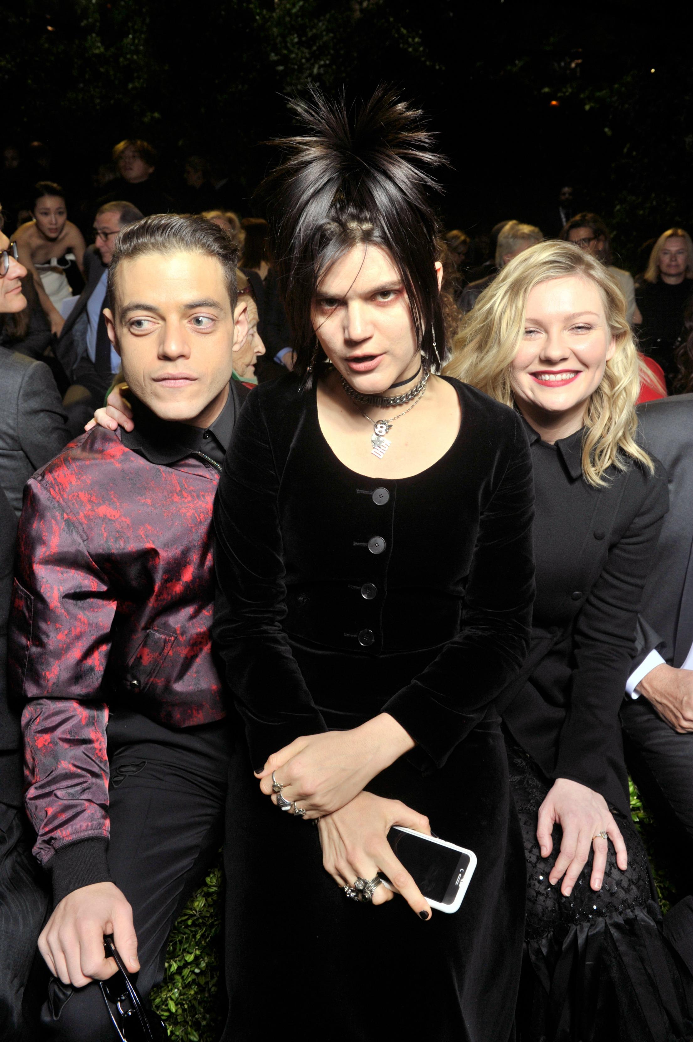 Rami Malek, SoKo and Kirsten Dunst sit front row at Dior.