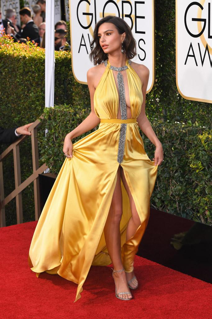 Emily Ratajkowski 2017 Golden Globes
