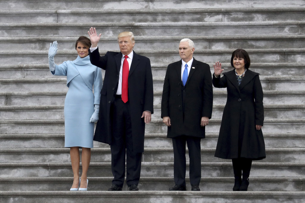 karen pence dress boots melania trump inauguration