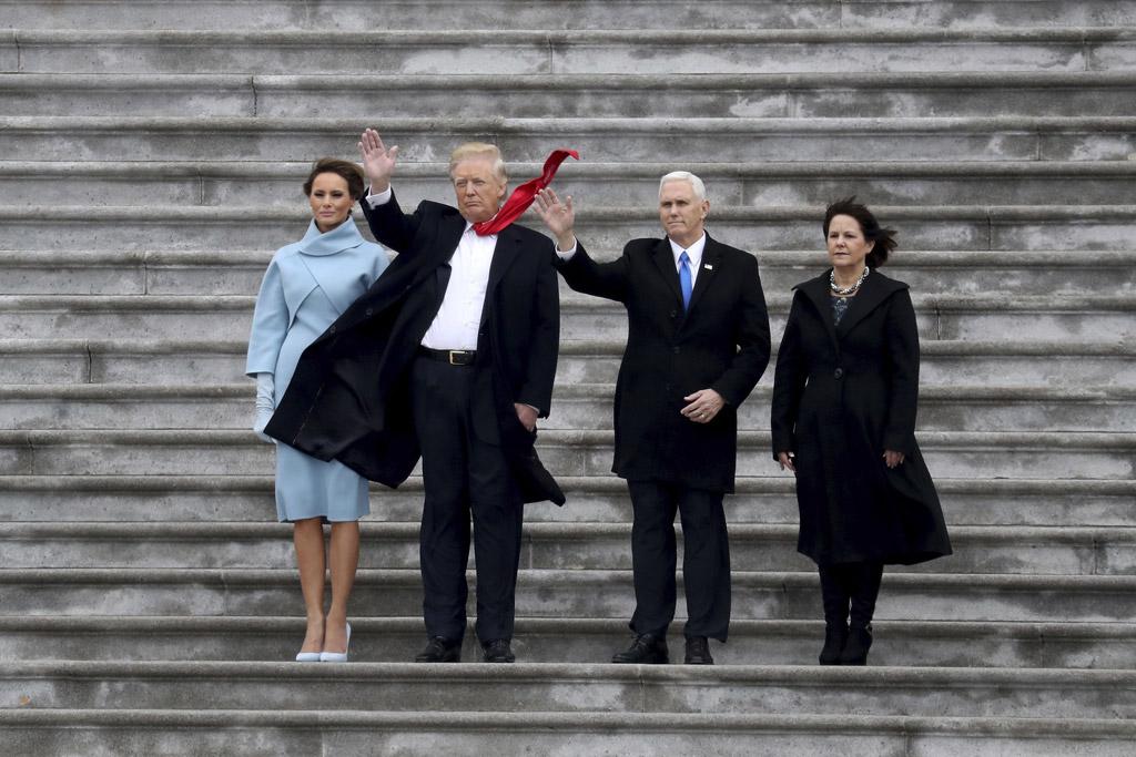 karen pence dress boots melania trump inauguration