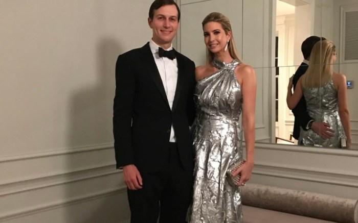 Ivanka Trump Silver Dress