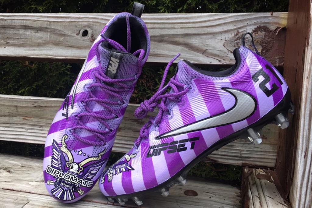 Custom Dipset Cleats Mache Jerick Mckinnon Minnesota Vikings