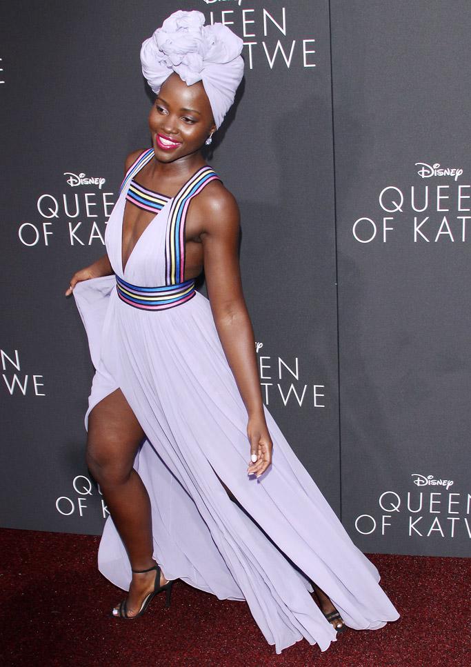 Lupita Nyong'o red carpet shoes