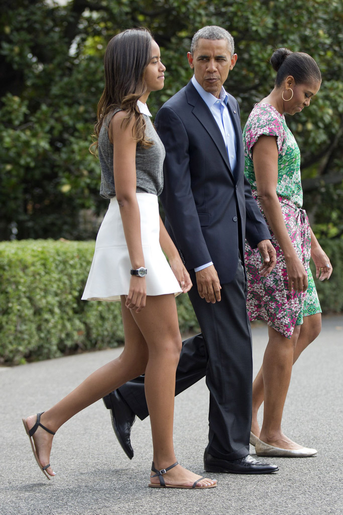 Malia obama Style, sandals, shoes, skirt, feet, marthas vineyard, 2014, michelle obama, barack obama, vacation