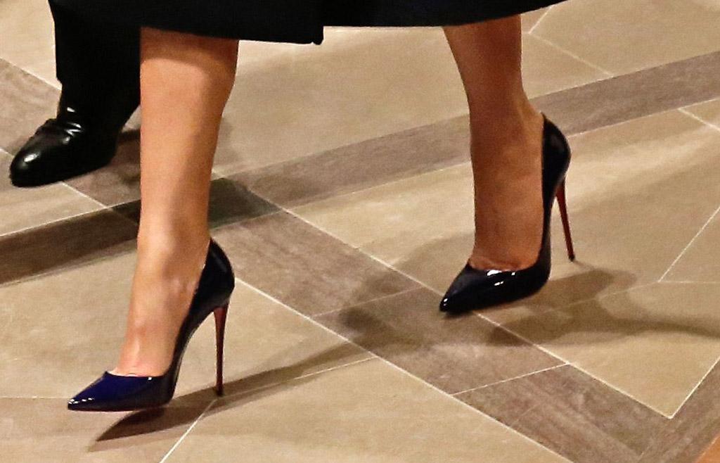 melania trump shoes national prayer service