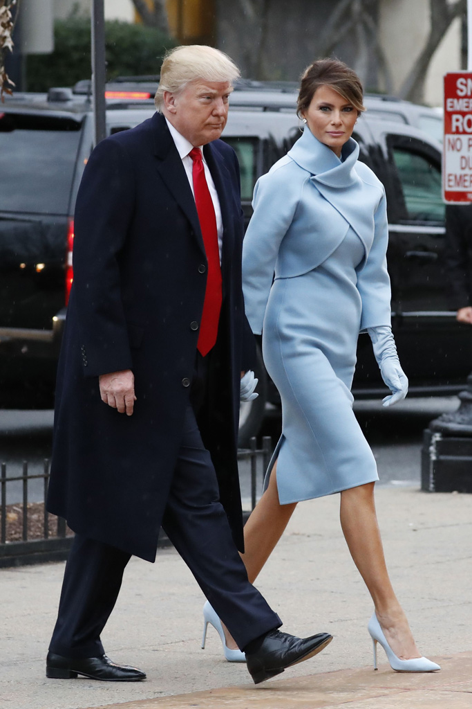 Melania Donald Trump Inauguration