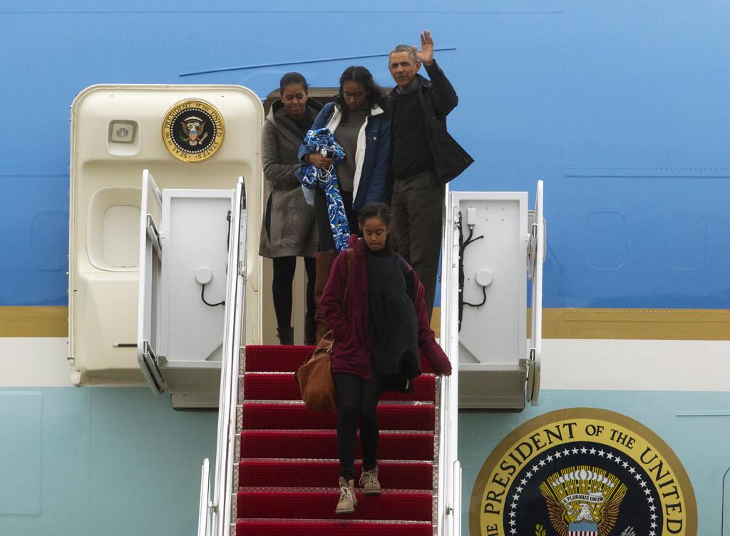 Michelle Obama Malia Obama President Barack Obama Sasha