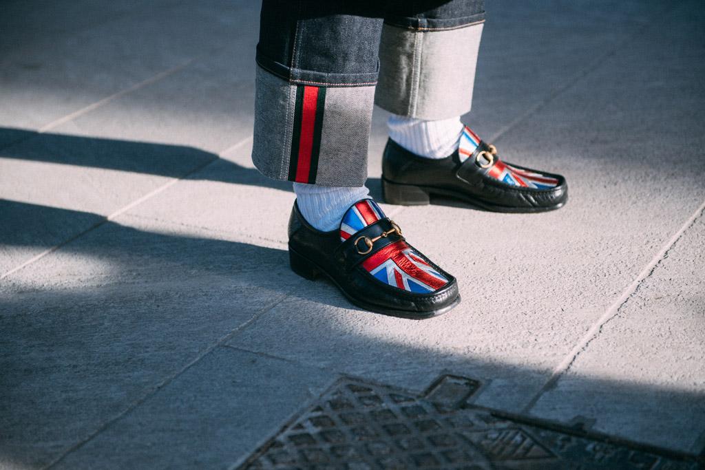 Street Style Shoes Milan Men's Fashion Week