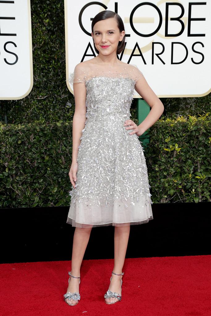 Millie Bobby Brown 2017 Golden Globes