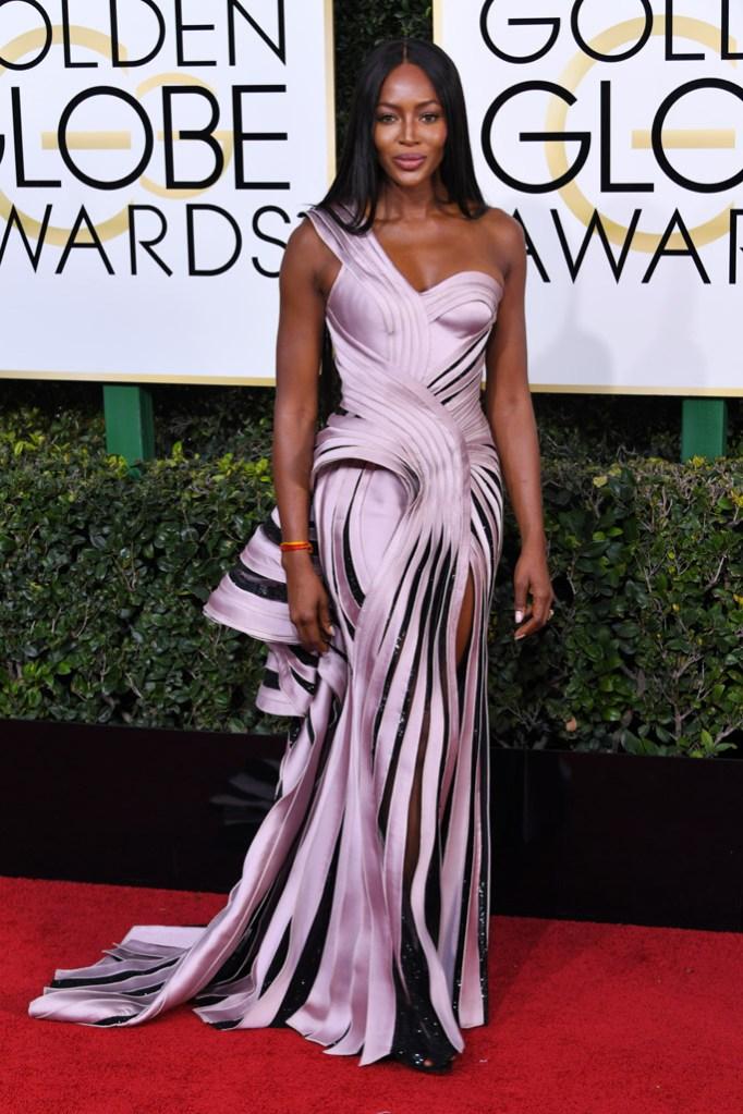 Naomi Campbell 2017 Golden Globes