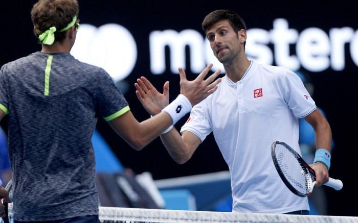 Novak Djokovic Denis Istomin