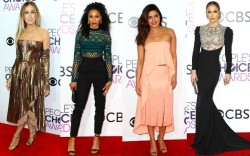 Jennifer Lopez peoples choice awards red