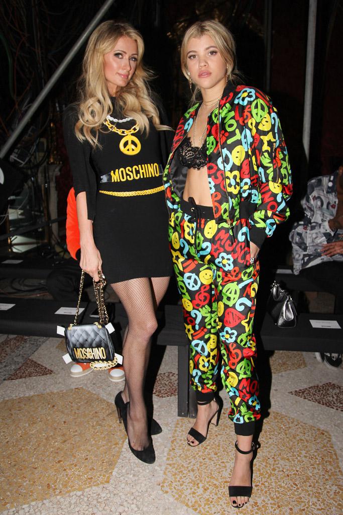 paris hilton sofia richie milan fashion week