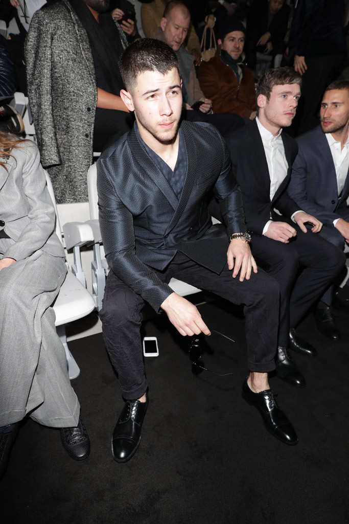 nick jonas emporio armani milan fashion week