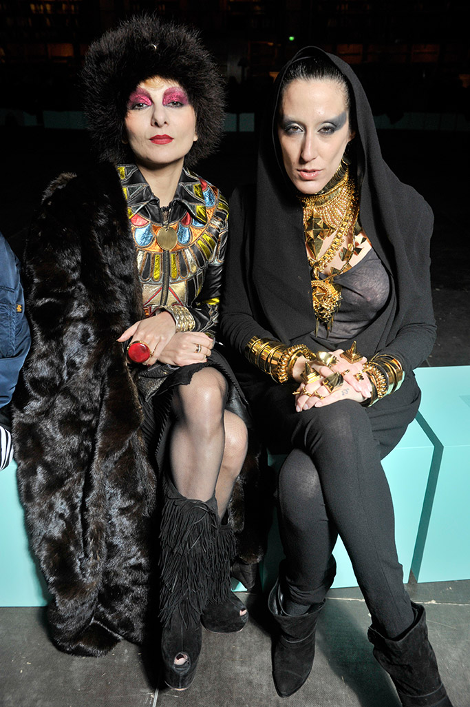 Catherine Baba and LadyFag front row at Givenchy.