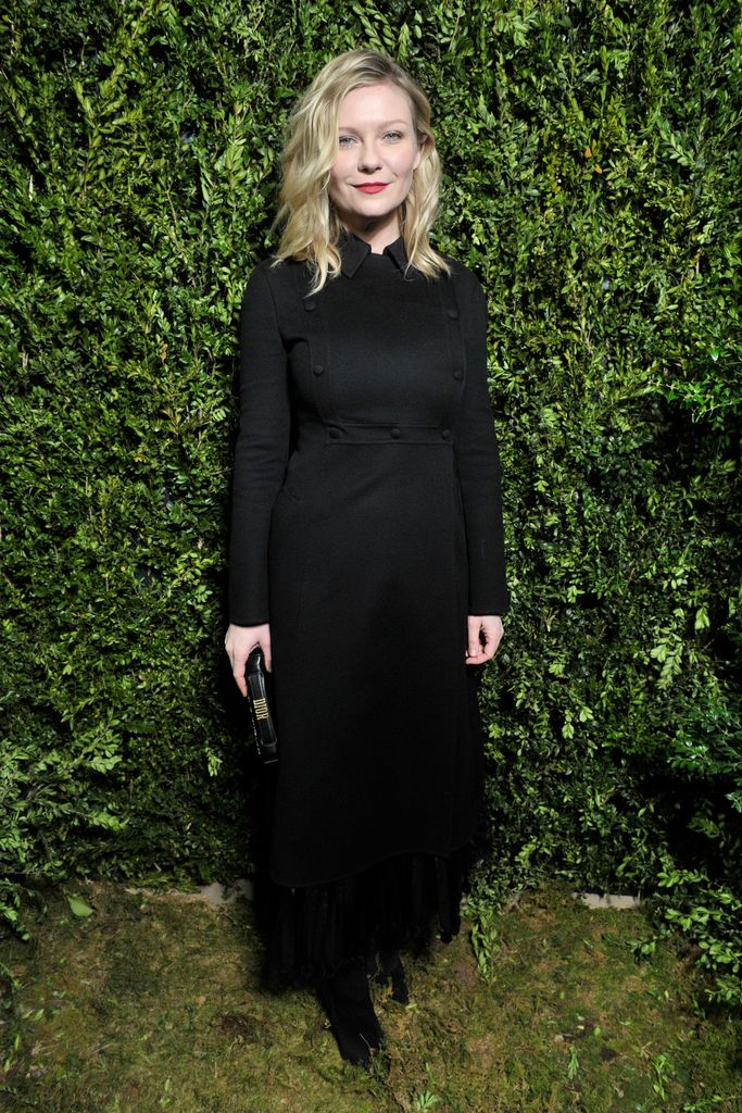 Kirsten Dunst front row at the Dior Haute Couture show.