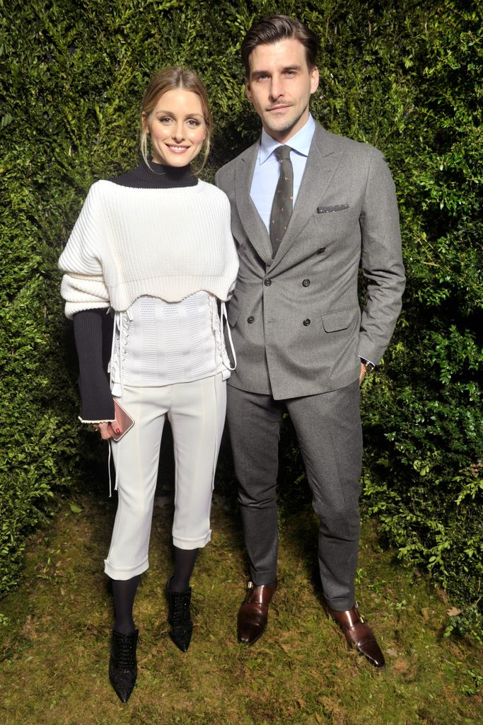 Olivia Palermo and Johannes Huebl front row at the Dior Haute Couture show.