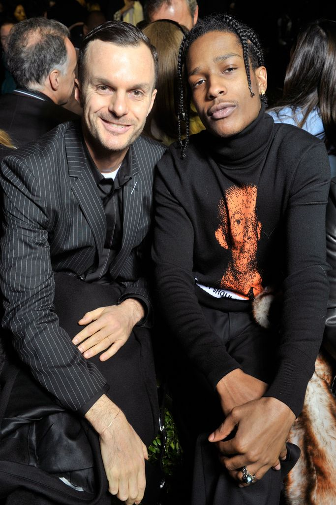Kris Van Assche and Asap Rocky sit front row at the Dior Haute Couture show.