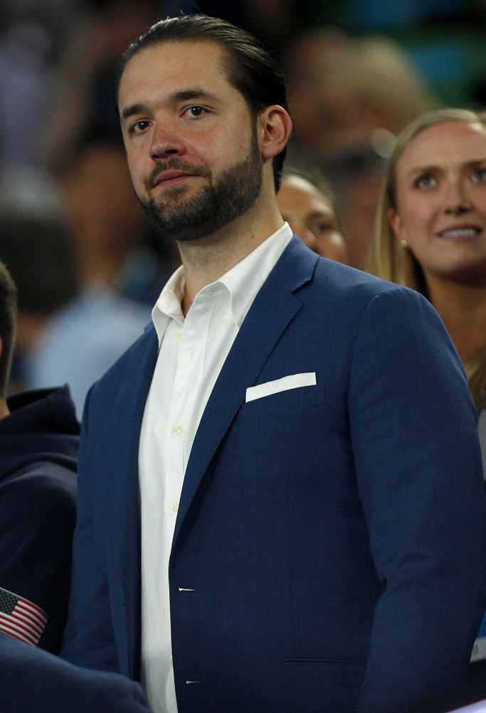 australian open serena williams fiance Alexis Ohanian