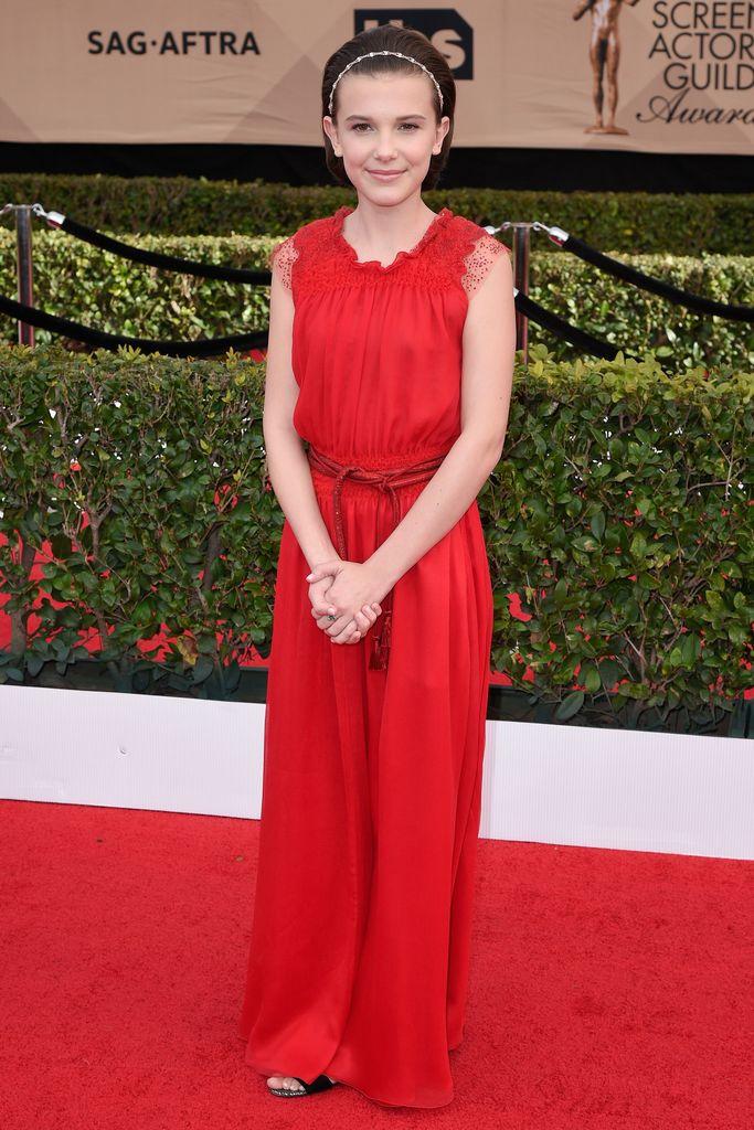 SAG Awards Red Carpet Millie Bobby Brown