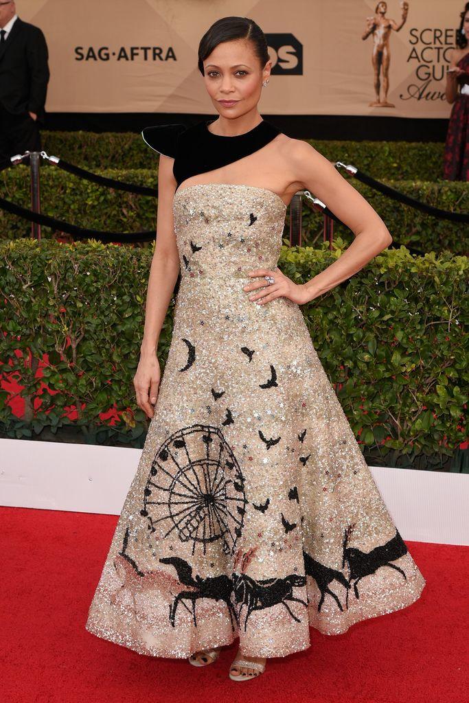 SAG Awards Red Carpet Thandie Newton