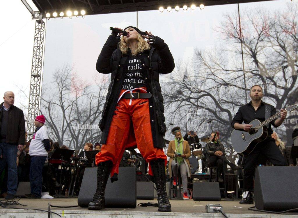 madonna Womens Solidarity March trump protest