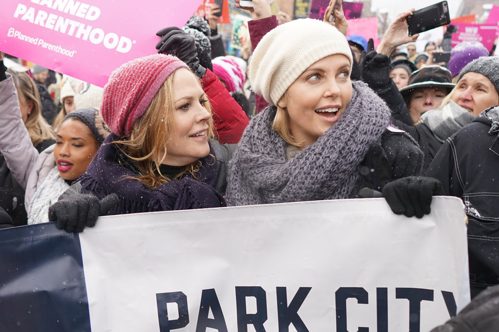 charlize theron Womens Solidarity March trump protest