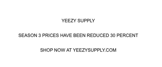 Yeezy Season 3 Sale
