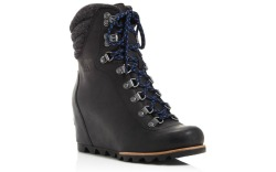 lace-up wedge snow boots
