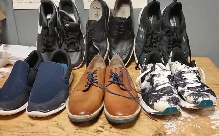 Cocaine Hidden in Shoes