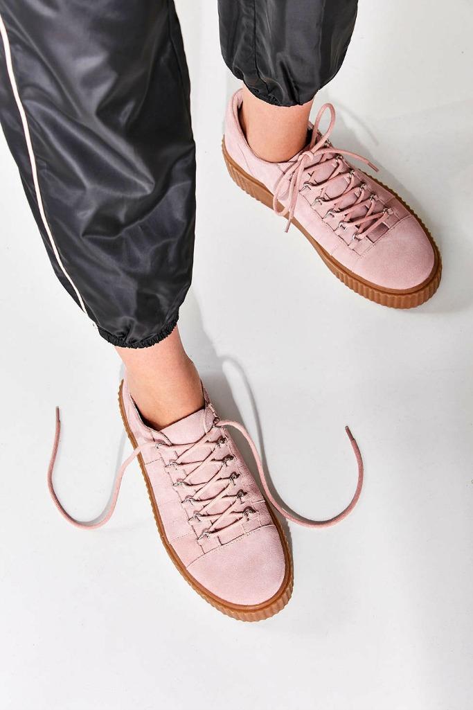Hollie Suede Creeper Sneaker.