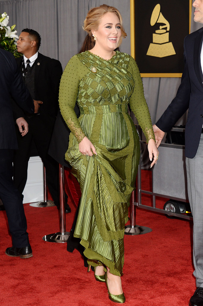 Adele 2017 Grammys Red Carpet