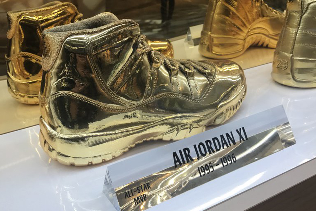 These Classic Air Jordans Were Dipped in Gold for NBA All-Star ...