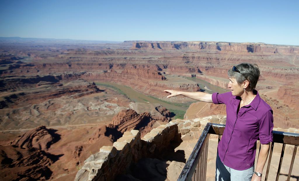Sally Jewell U.S. Interior Secretary Dead Horse Point Moab Utah