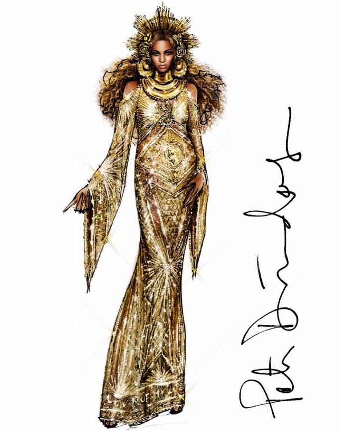 beyonce peter dundas gown grammy awards dress