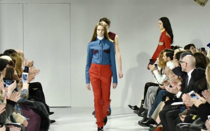 Calvin Klein fall '17 collection.