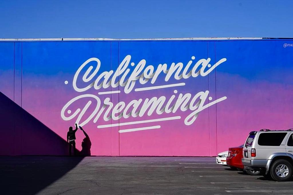 chinese laundry california dreaming mural