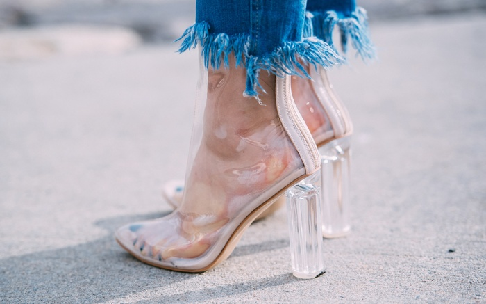 Clear Perspex Boots Trend New York Fashion Week