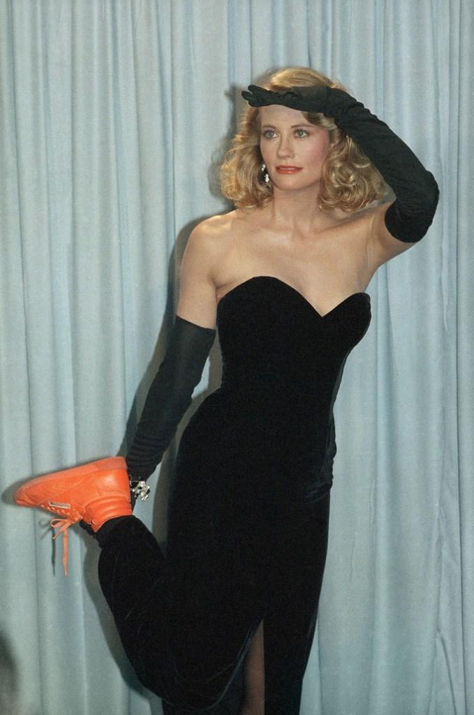 Cybill Shepherd reebok emmy awards oscars sneakers