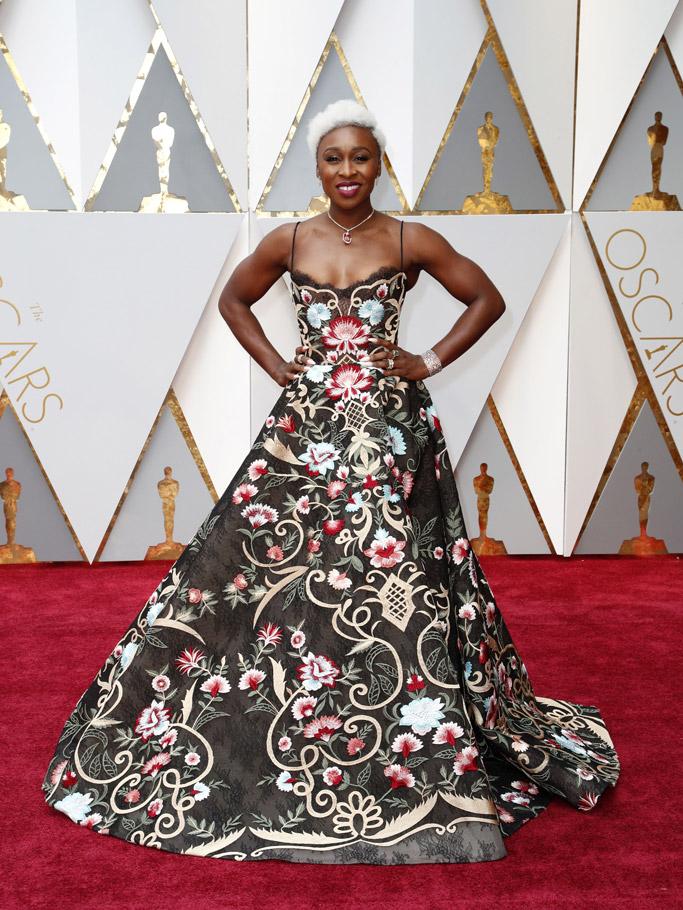 Cynthia Erivo Oscars 2017 Red Carpet