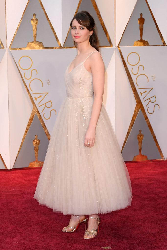 Felicity Jones Oscars 2017 Red Carpet