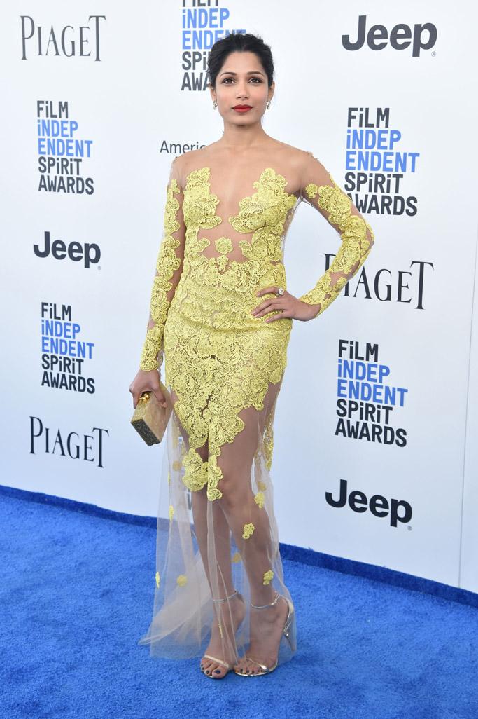 2017 freida pinto Film Independent Spirit Awards dress