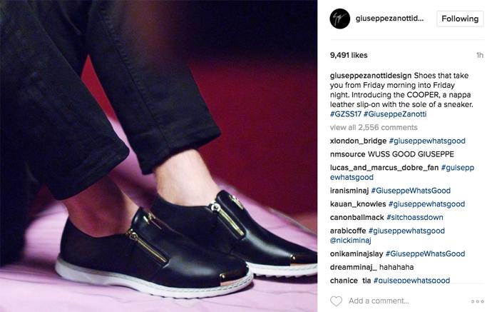 Giuseppe Zanotti Instagram Nicki Minaj